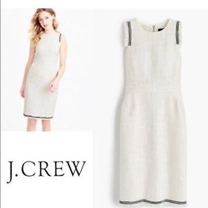 New J.Crew white tweed dress size 12